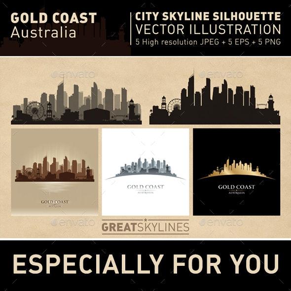 Gold Coast Australia city Skyline set - Buildings Objects