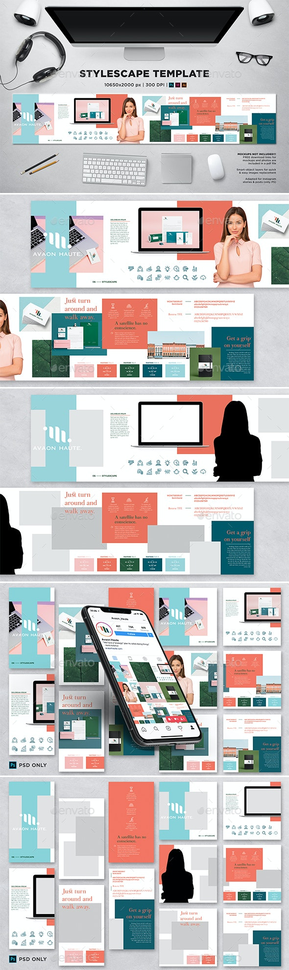 Stylescape / Moodboard Template 06 - Print Templates
