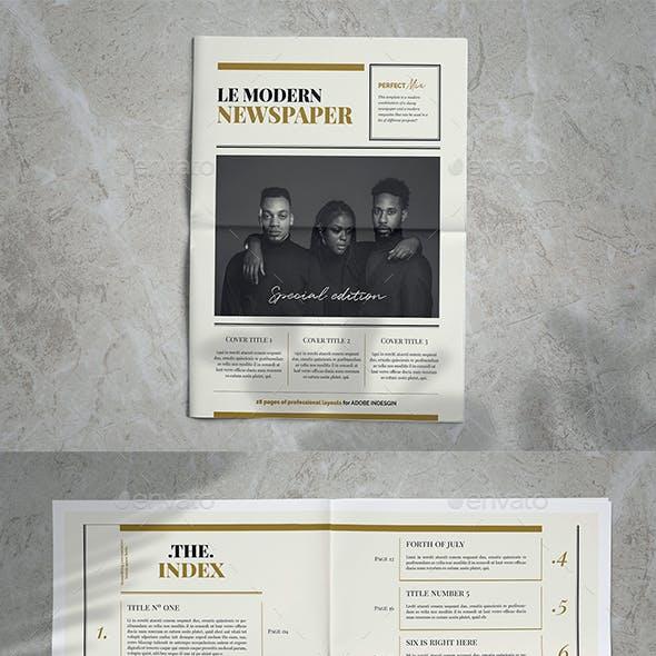 Newspaper Magazine Indesign Template