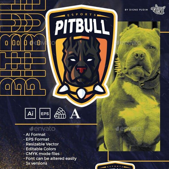 Sports Mascot Logo American Pit Bull Terrier