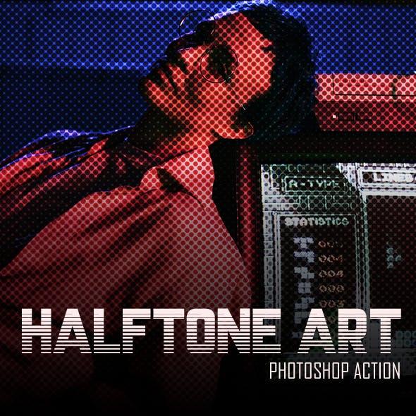 Halftone Art - Photoshop Action