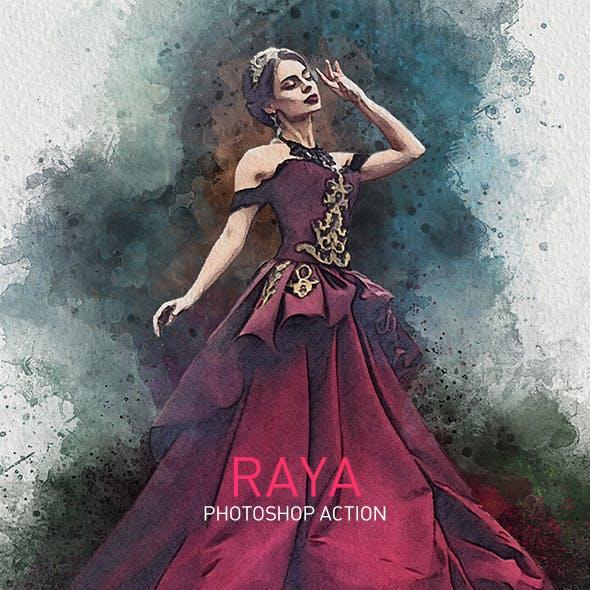 RAYA | Vivid Painting Photoshop Action