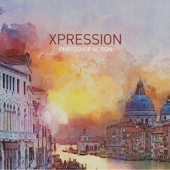 XPRESSION | Watercolor Painting PS Action
