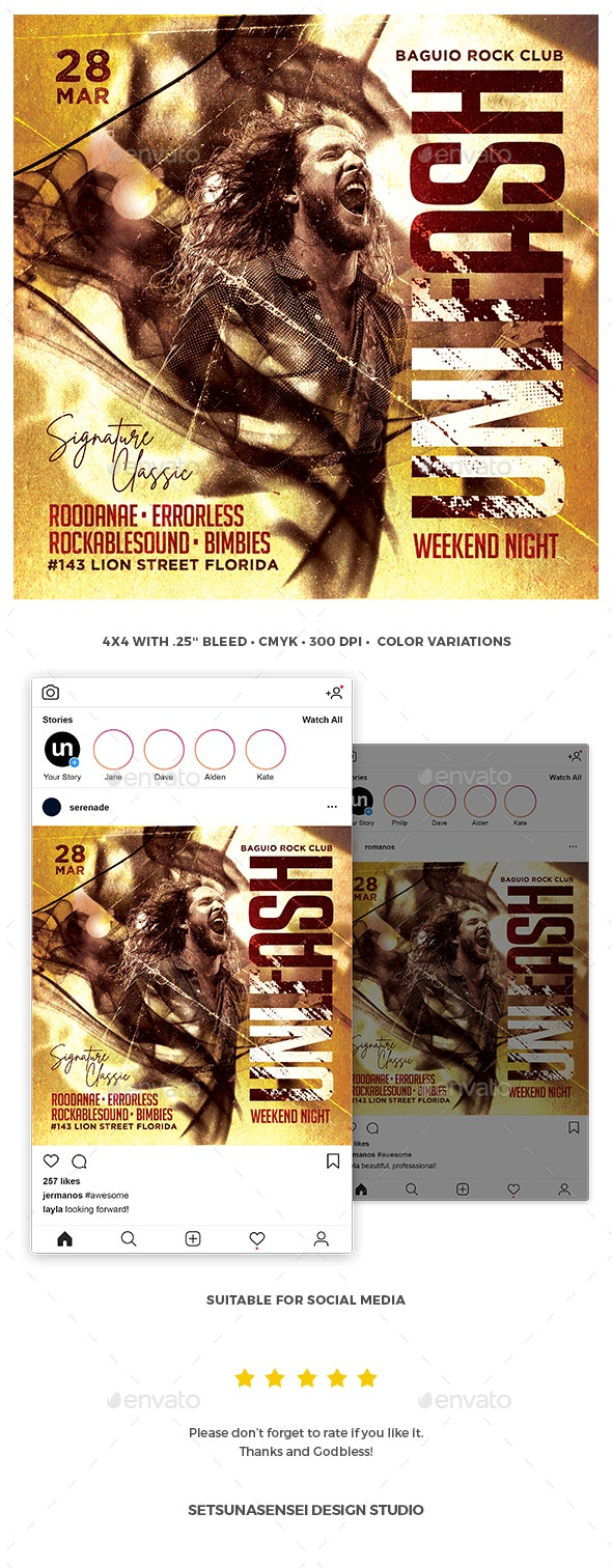 Unleash Flyer - Concerts Events