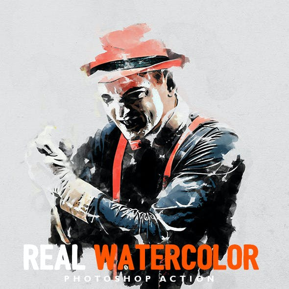 Real Watercolor - Photoshop Action