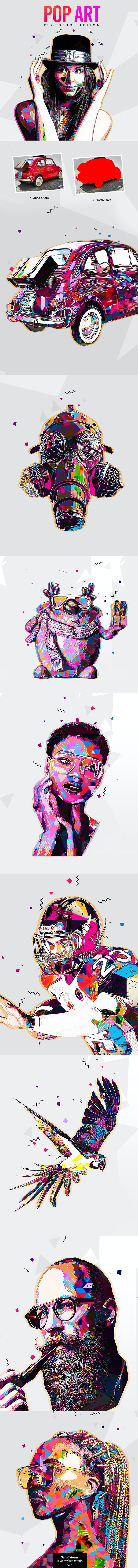 Pop Art - Photoshop Action - Photo Effects Actions