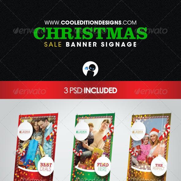 Christmas Sale Banner Signage