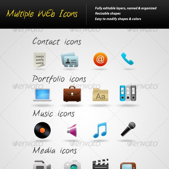 Multiple Web Icons