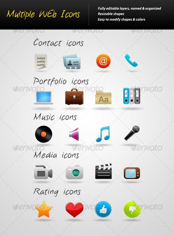 Multiple Web Icons - Web Icons