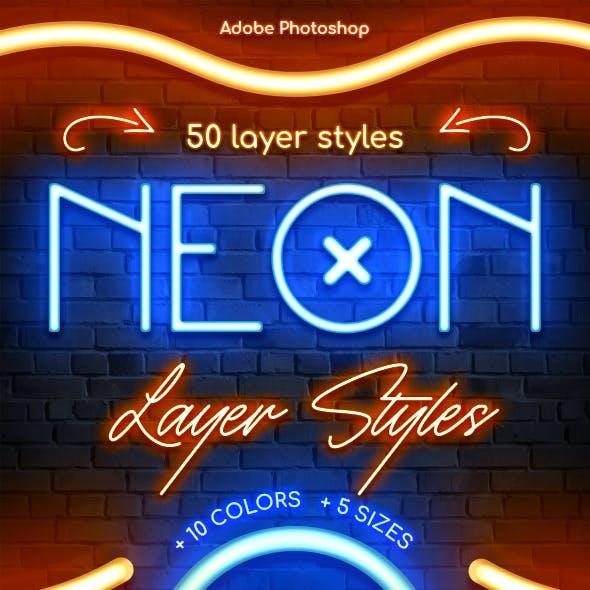 Neon - Photoshop Layer Styles