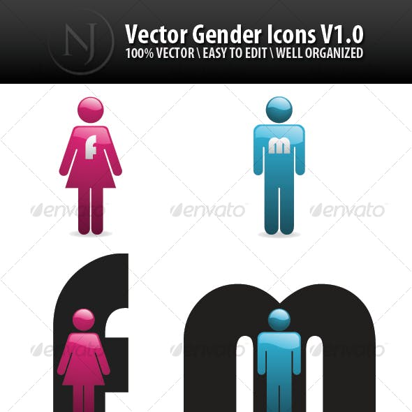 JN Vector Gender Icons V1.0