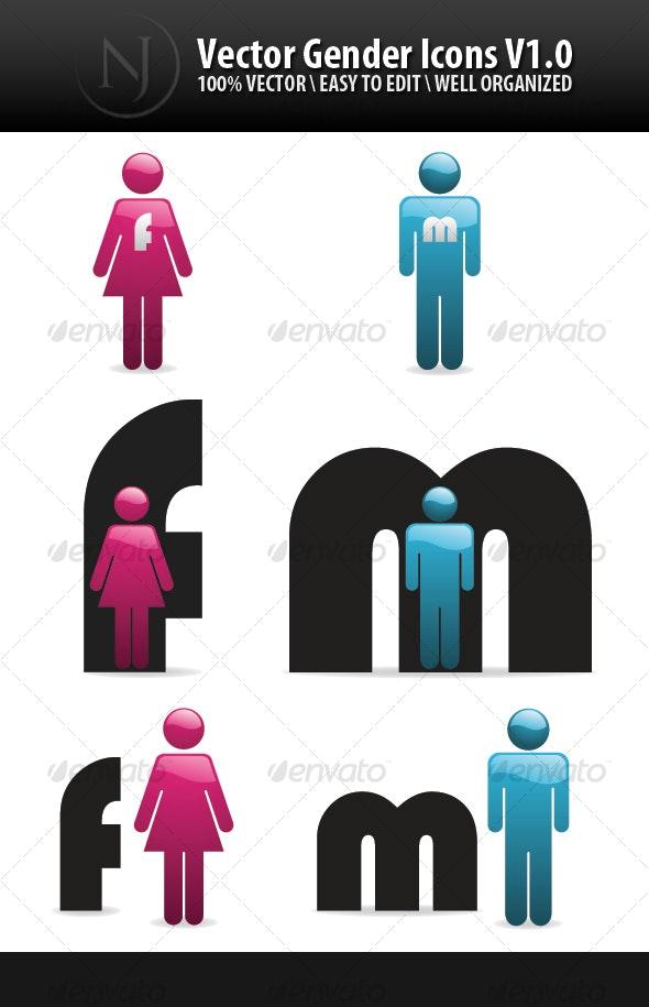 JN Vector Gender Icons V1.0 - Decorative Symbols Decorative
