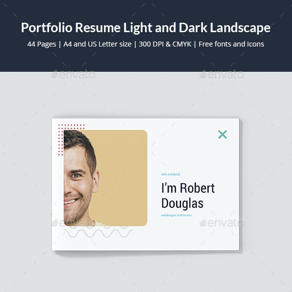 Portfolio Resume Light and Dark Landscape