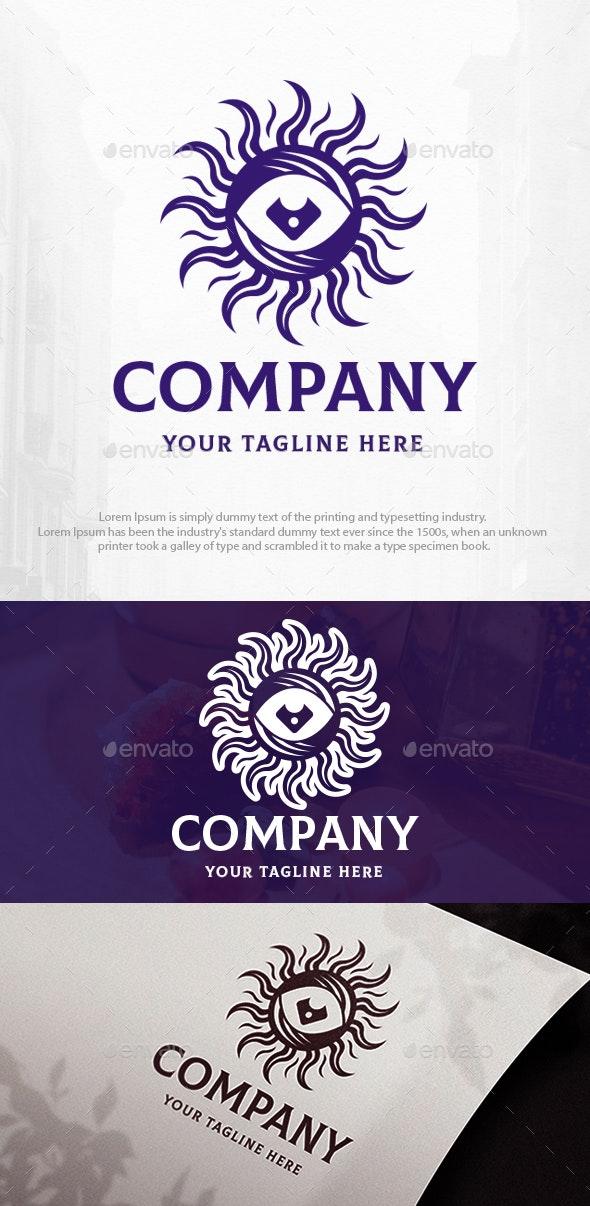 Dark Eye Sun Logo Template - Symbols Logo Templates