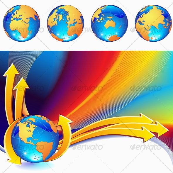 Globe Background - Communications Technology