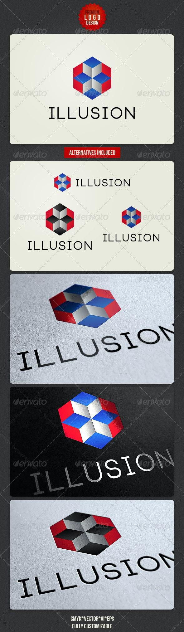 Illusion Geometric Logo Design - Abstract Logo Templates