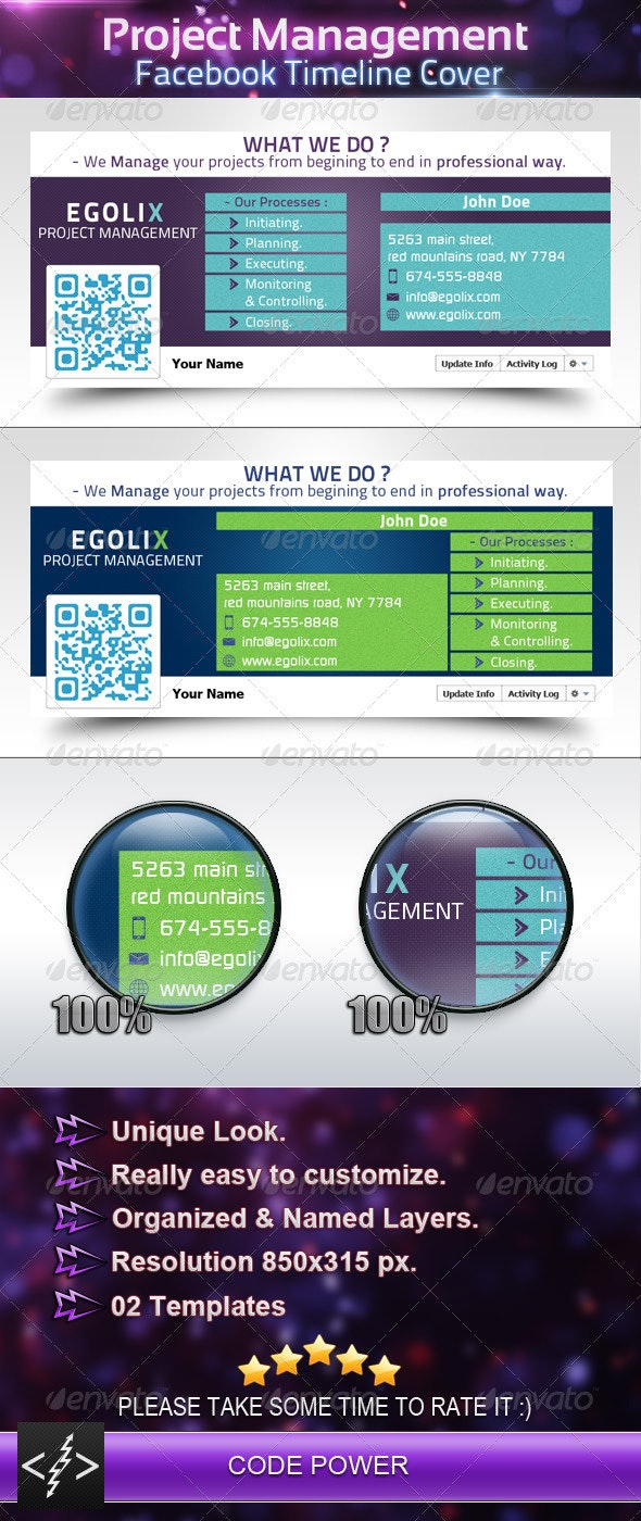 Project Management - Facebook Timeline Cover - Facebook Timeline Covers Social Media