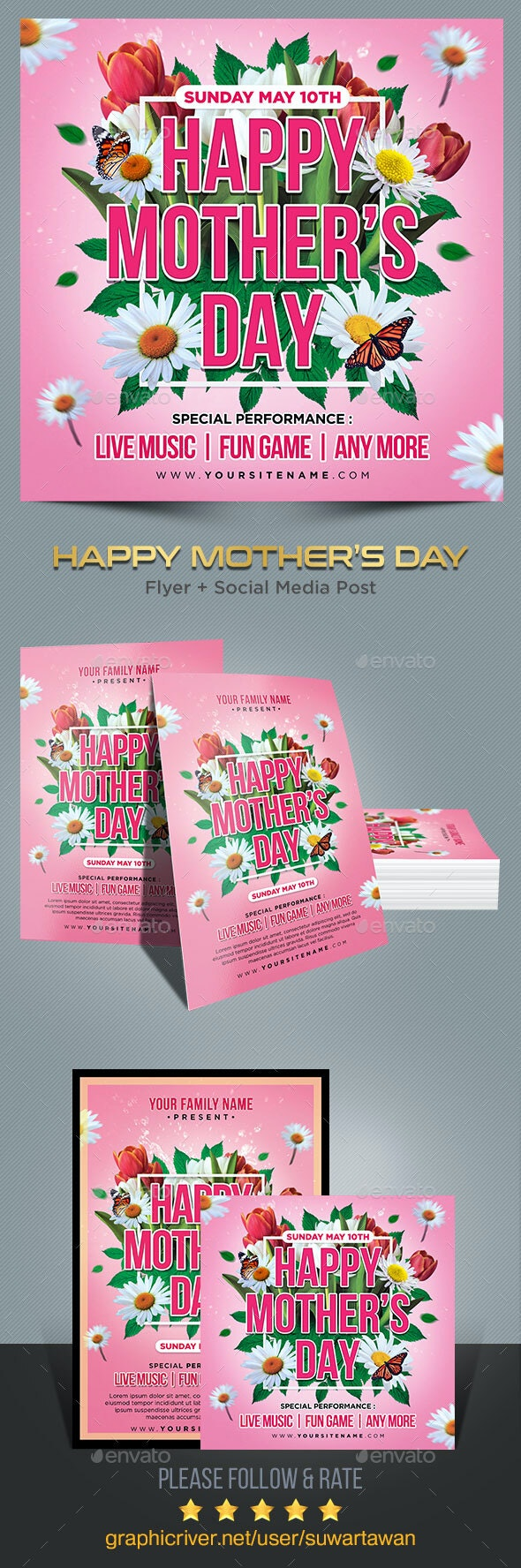 Mother's Day Flyer Template - Print Templates