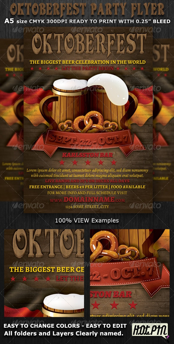 Oktoberfest Event Flyer Template - Events Flyers