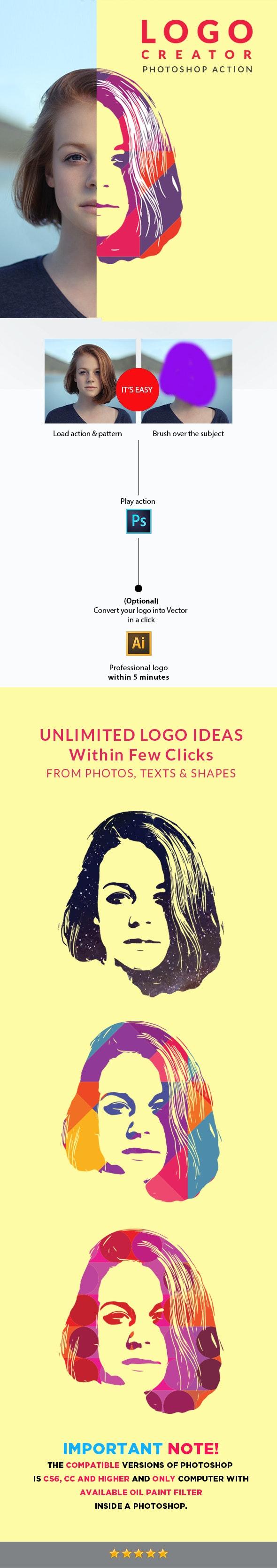 Professional Logo Creator - Actions Photoshop