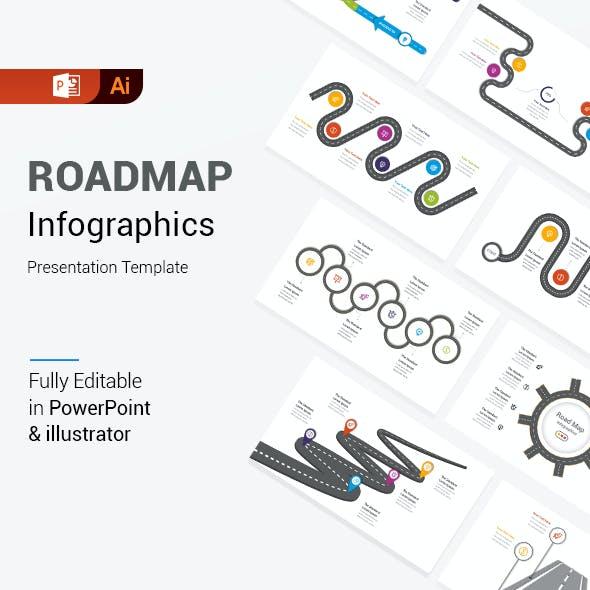 RoadMap Diagrams PowerPoint & Illustrator Template