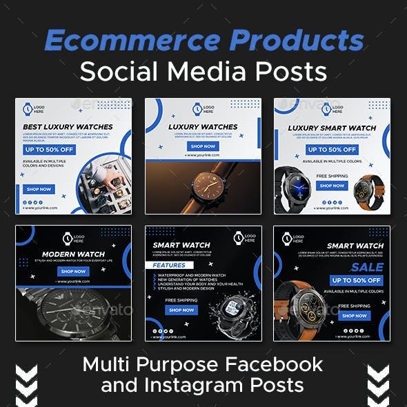 Ecommerce Products Social Media Posts