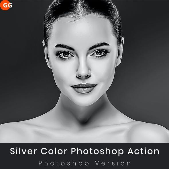 Silver Color Photoshop Action
