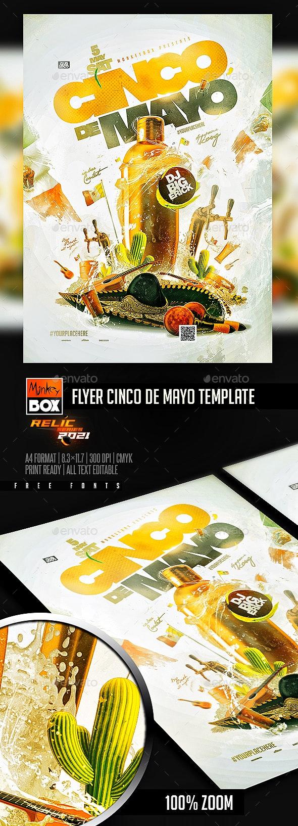 Flyer Cinco De Mayo Template - Events Flyers