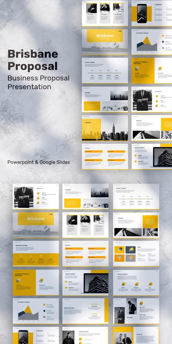 Brisbane Proposal Presentation - Business PowerPoint Templates
