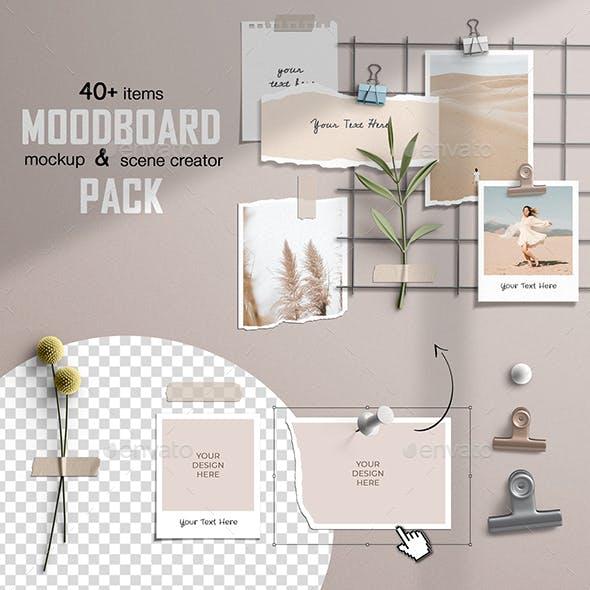 Moodboard Mockup and Scene Creator Pack