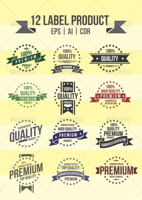 12 Label Product - Decorative Symbols Decorative