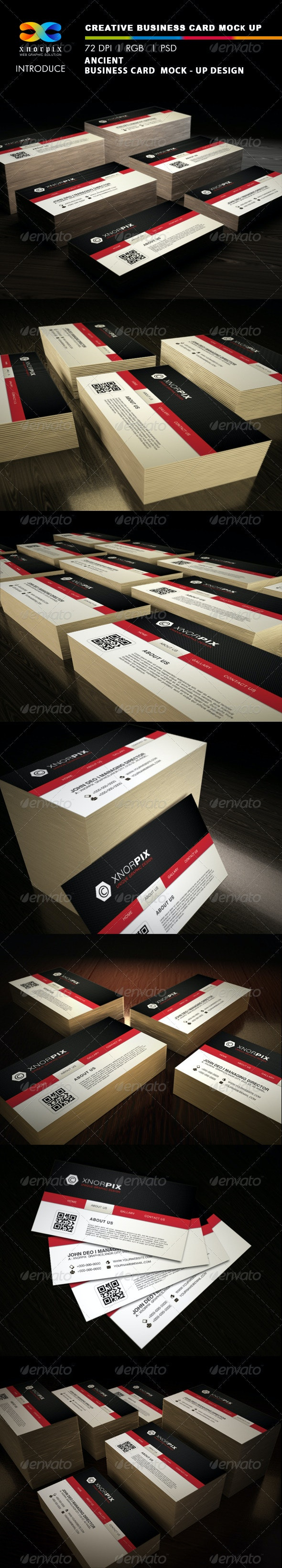 Ancient Business Card Mock-up - Business Cards Print
