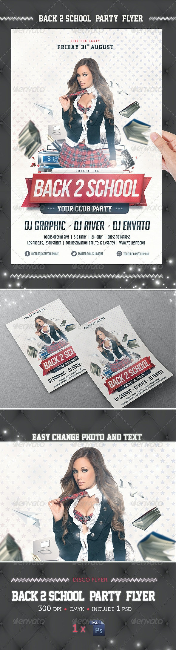Back 2 School Party Flyer Template - Events Flyers