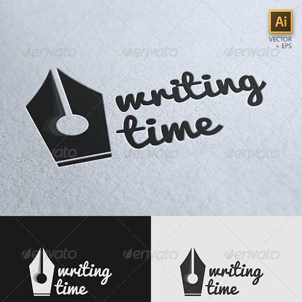 """Writing Time"" Creative Logo Template"