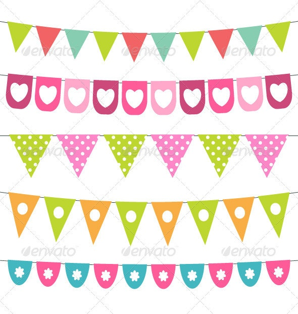 Vector bunting collection. - Birthdays Seasons/Holidays