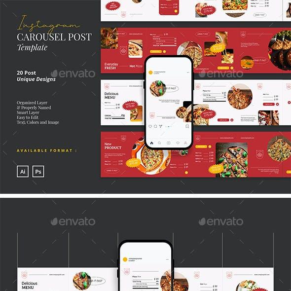 Trendy and Modern Food Instagram Carousel
