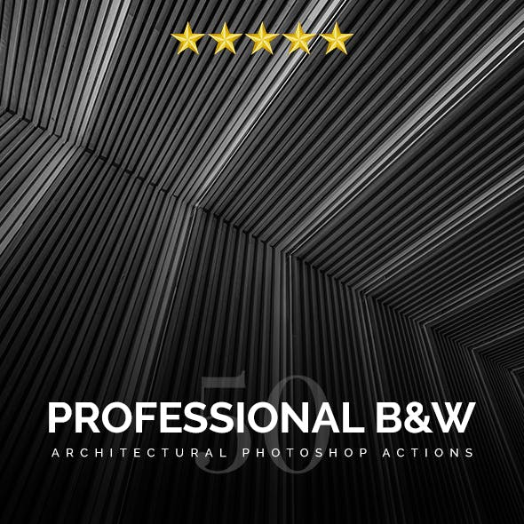 Professional Black And White Architectural Photoshop Actions
