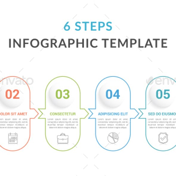 6 Steps - Infographic Template
