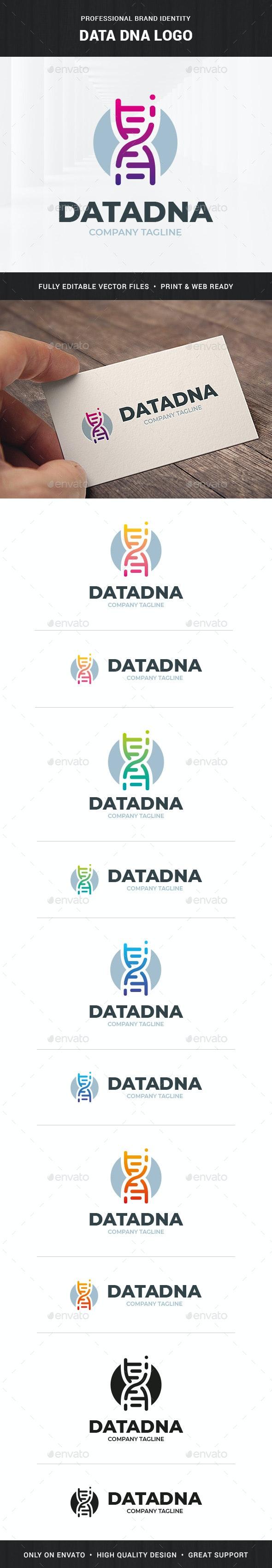 Data DNA Logo Template - Abstract Logo Templates
