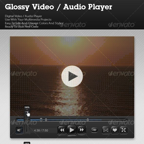 Glossy Video / Audio Player