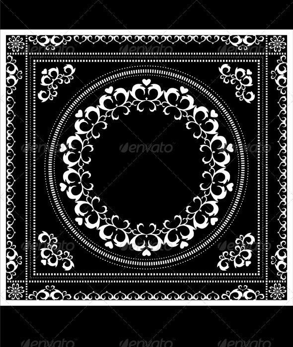 Decorative Pattern Frame for Napkin - Borders Decorative