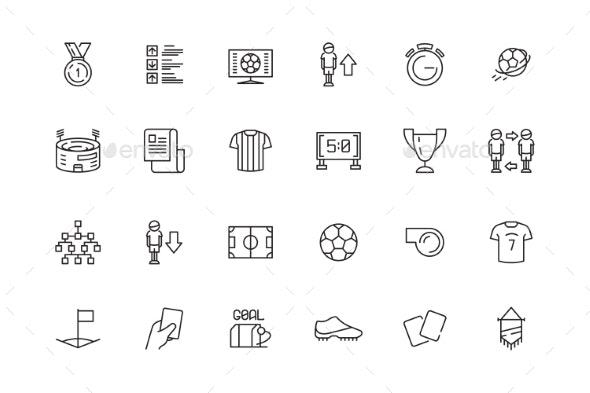 Football Icon - Web Elements Vectors