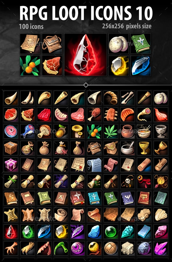 RPG Loot Icons 10 - Miscellaneous Game Assets