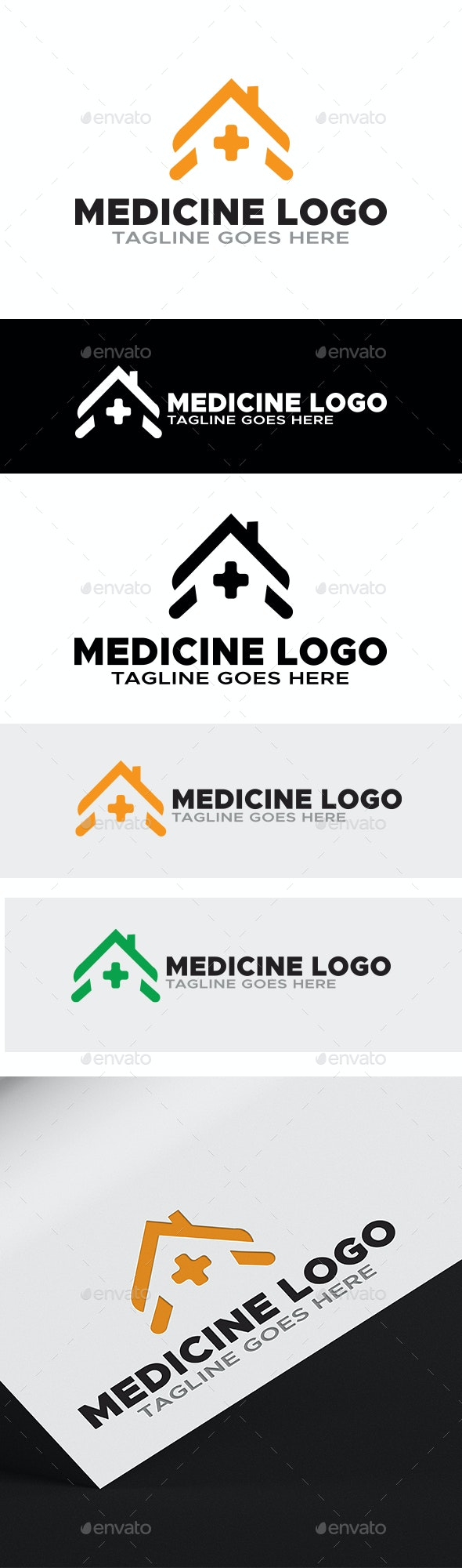 Medical  Logo - Home Logo - Symbols Logo Templates