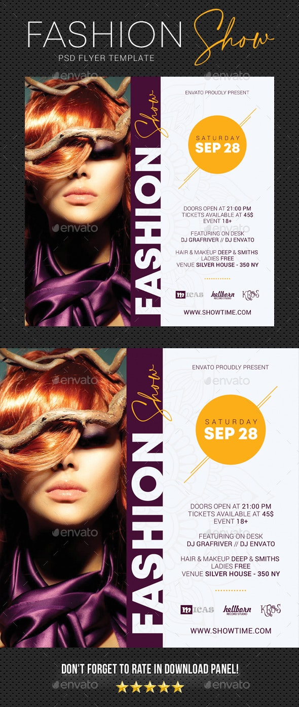 Fashion Show Party Flyer 2 - Events Flyers