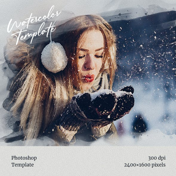 Watercolor from Photo Template