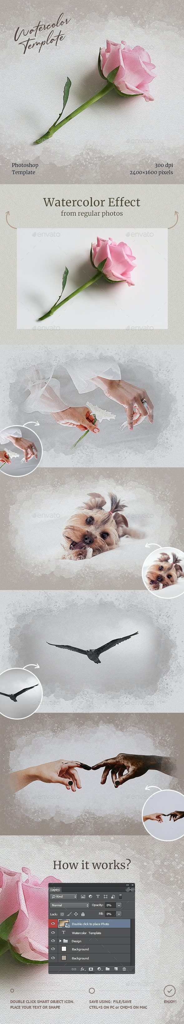 Watercolor from Photo Template - Artistic Photo Templates