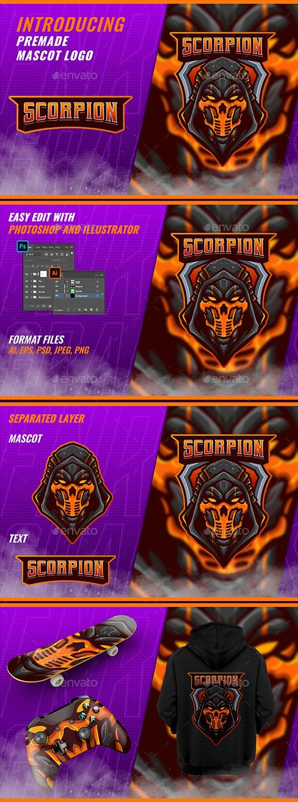 Scorpion Ninja - Mascot & Esport Logo - Vector Abstract