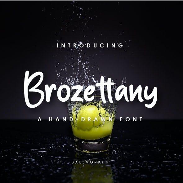 Brozettany Hand-drawn Font