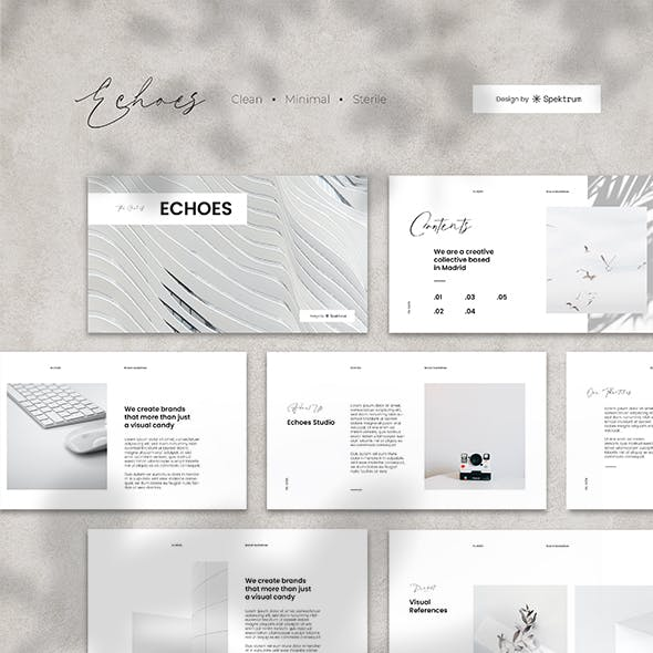 Echoes Minimal PowerPoint Template